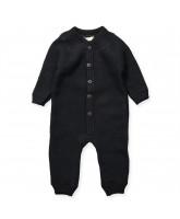 Black wool playsuit