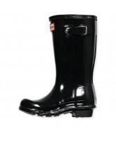 Black gloss wellies