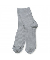 Grey glitter socks - adult