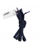 Navy glitter laces