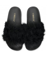 Feathers slippers