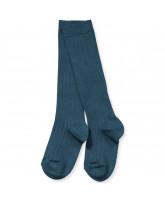 Petrol rib knee socks