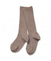 Mocca rib knee socks