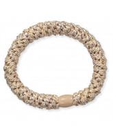 Kknekki glitter hair elastic - beige