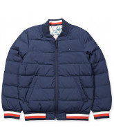 2-in-1 navy down jacket