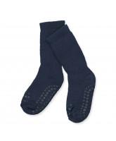 Navy non-slip socks