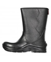 Black winter wellies