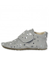 Grey silver dot slippers