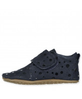 Navy dot slippers