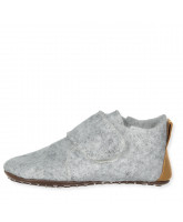 Grey wool slippers