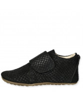 Black croco slippers