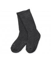 Dark grey non-slip socks