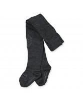 Dark grey non-slip wool tights