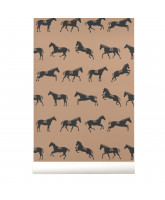Wall paper with horses