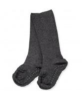 Dark grey bamboo non-slip socks