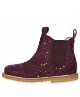 Bordeaux/purple boots