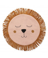 Rose lion pillow