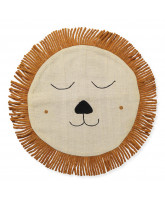 Beige lion pillow