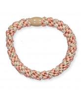 Kknekki glimmer hair elastic - Peach coral
