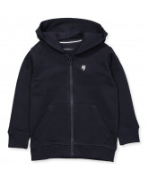 Navy zip sweat