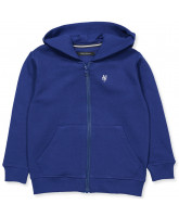 Blue zip sweat