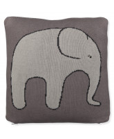 Grey pillow with elephant