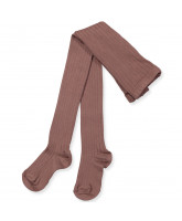 Taupe rib tights
