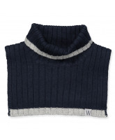 Navy neck warmer with wool