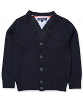 Navy knitted cardigan - boy