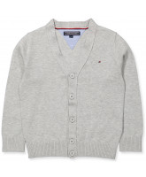 Grey knitted cardigan - boy