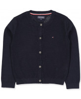 Navy knitted cardigan - girl