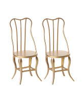 2 pack micro vintage chairs
