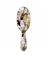 Hairbrush w. cats & dogs - large
