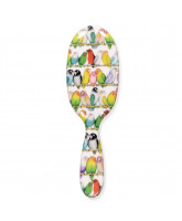 Hairbrush w. lovebirds - large