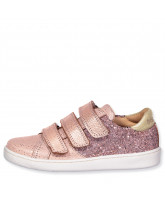 Blush glitter shoes