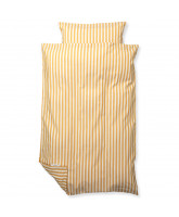 Organic striped bed linen