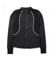 Black leo zip jacket - adult