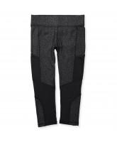 Black leo 3/4 leggings - adult