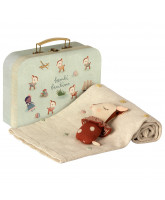 Rusty baby gift set in suitcase
