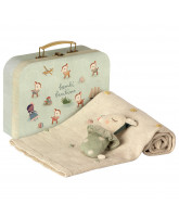 Mint baby gift set in suitcase