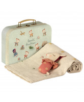 Rose baby gift set in suitcase