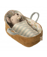 Baby mouse in carrycot