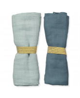 2 pack organic muslin cloth