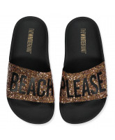 Beach Please glitter slippers