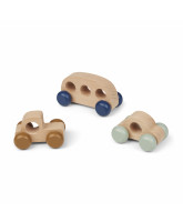 3 pack mini wooden cars