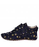 Navy gold dot slippers