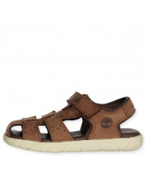 Nubble Leather Fisherman Sandals