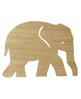 Elephant lamp - oiled oak
