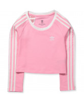 Pink crop LS t-shirt