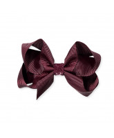 Bordeaux glitter hair bow - 8 cm